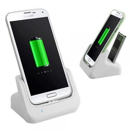 Samsung Galaxy S5 USB 3.0 Dockingstation inklusive Batterieslot - weiss