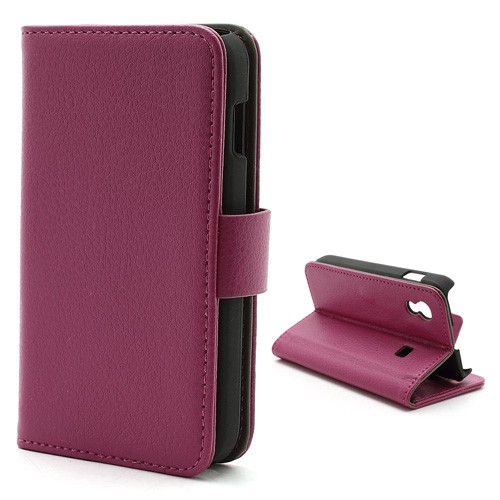 Samsung Galaxy Ace 1 (S5830) Magnetisches Leder Case mit Litchimuster - rosa