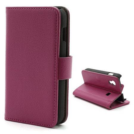 Samsung Galaxy Ace 1 (S5830) Magnetisches Leder Case mit Litchimuster - rosa