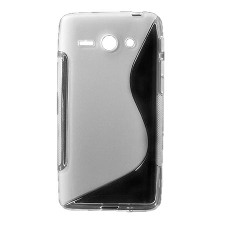 Huawei Ascend Y530 Elastisches Plastik Case S-Shape - transparent