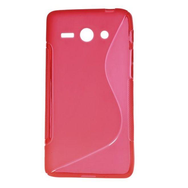 MU Classic Huawei Ascend Y530 Elastisches Plastik Case S-Shape - rot