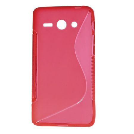 Huawei Ascend Y530 Elastisches Plastik Case S-Shape - rot