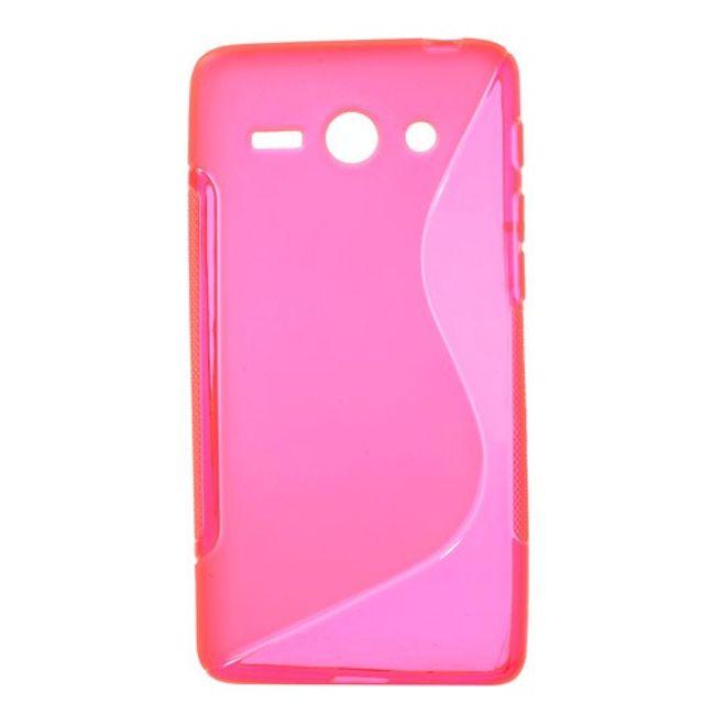 Huawei Ascend Y530 Elastisches Plastik Case S-Shape - rosa