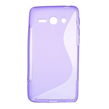 Huawei Ascend Y530 Elastisches Plastik Case S-Shape - purpur