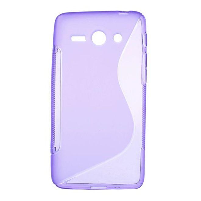 Huawei Ascend Y530 Elastisches Plastik Case S-Shape - purpur