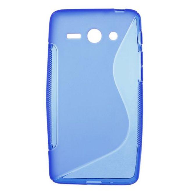 Huawei Ascend Y530 Elastisches Plastik Case S-Shape - blau
