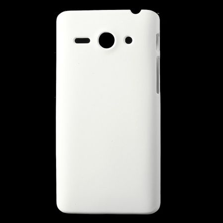 Huawei Ascend Y530 Gummiertes Hart Plastik Case - weiss