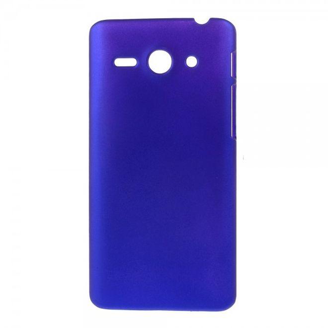 MU Classic Huawei Ascend Y530 Gummiertes Hart Plastik Case - dunkelblau