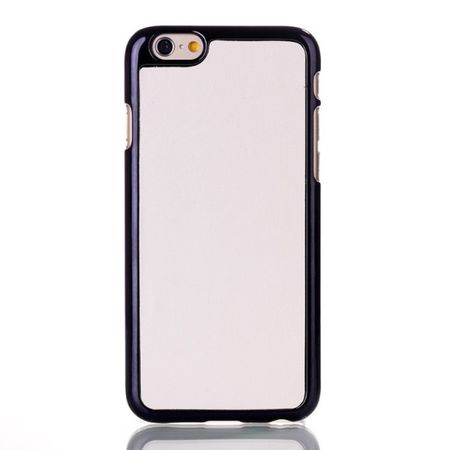 iPhone 6/6S Lederüberzogenes Hart Plastik Case - weiss