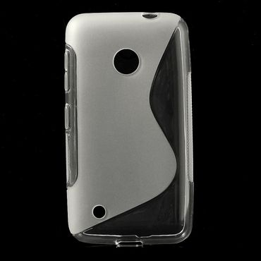 Nokia Lumia 530 Elastisches Plastik Case S-Shape - transparent