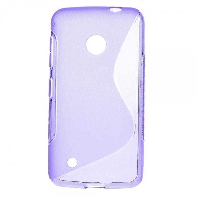 Nokia Lumia 530 Elastisches Plastik Case S-Shape - purpur