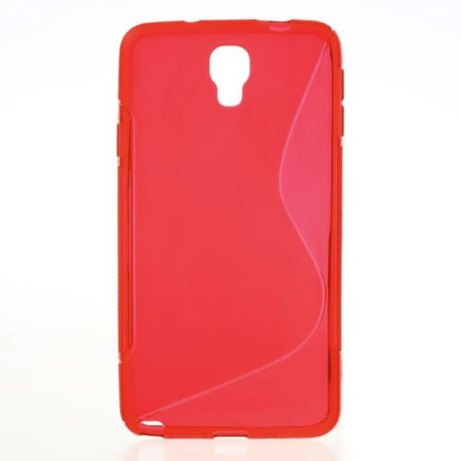MU Classic Samsung Galaxy Note 3 Lite/Neo Elastisches Plastik Case S-Curve - rot