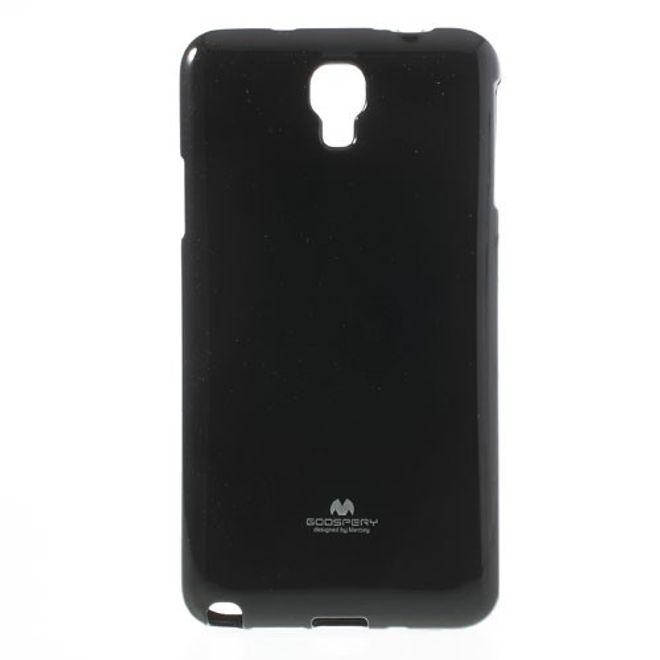 Samsung Galaxy Note 3 Lite/Neo Elastisches Plastik Case mit Perlenmusterung - schwarz