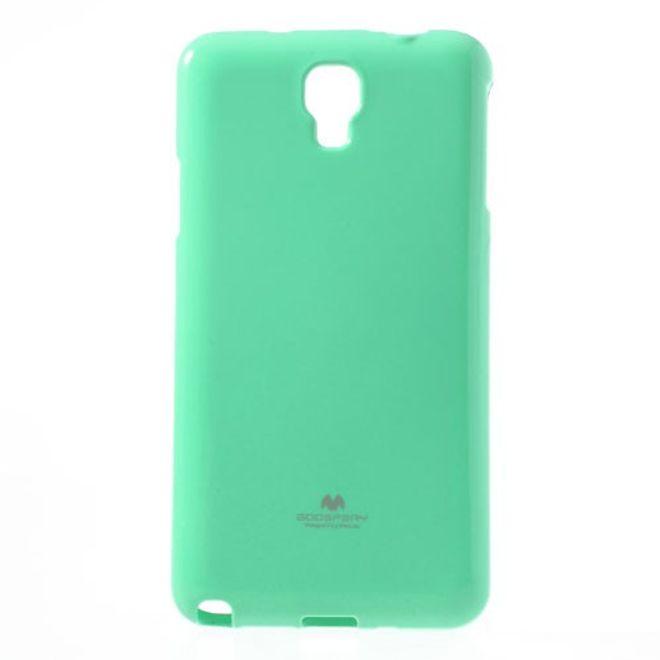 MU Classic Samsung Galaxy Note 3 Lite/Neo Elastisches Plastik Case mit Perlenmusterung - minzfarben