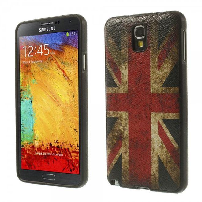 MU Style Samsung Galaxy Note 3 Lite/Neo Elastisches Plastik Case mit Union Jack Flagge retro-style