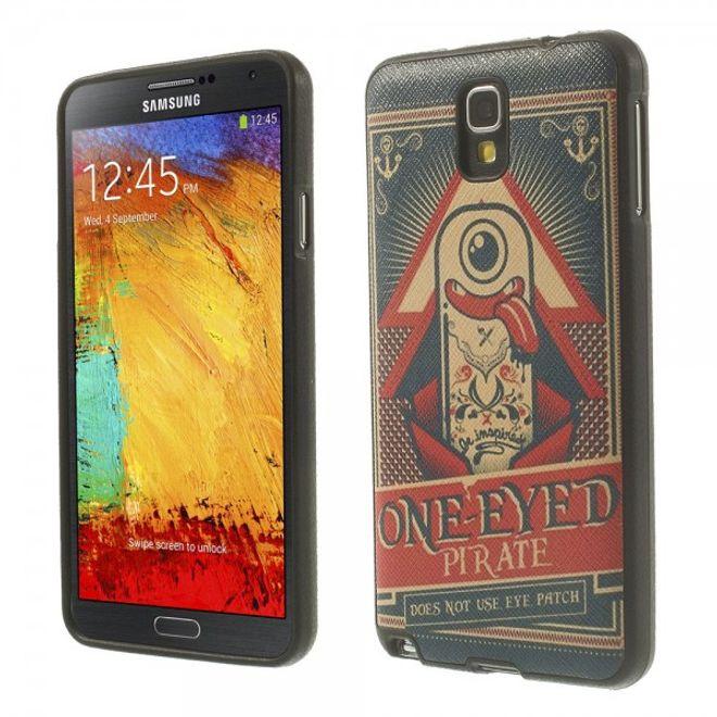 MU Style Samsung Galaxy Note 3 Lite/Neo Elastisches Plastik Case mit einäugigen Piraten