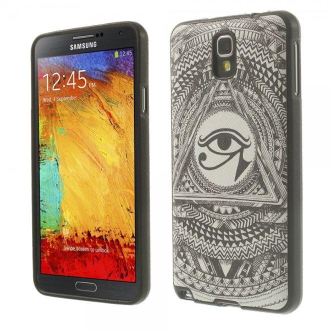 MU Style Samsung Galaxy Note 3 Lite/Neo Elastisches Plastik Case mit Auge des Horus Symbol