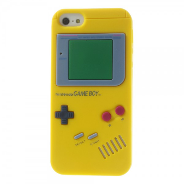 iPhone SE/5S/5 Silikon Case im Nintendo GameBoy Look - gelb