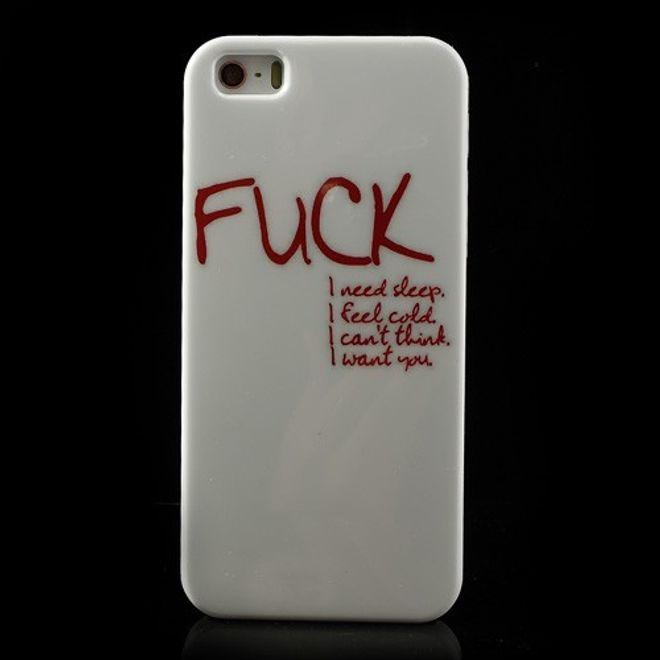 MU Style iPhone SE/5S/5 Hart Plastik Case mit rotem Spruch