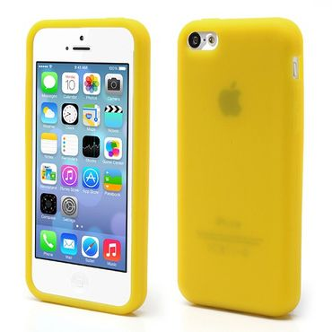 iPhone 5C Flexibles Silikon Case - gelb