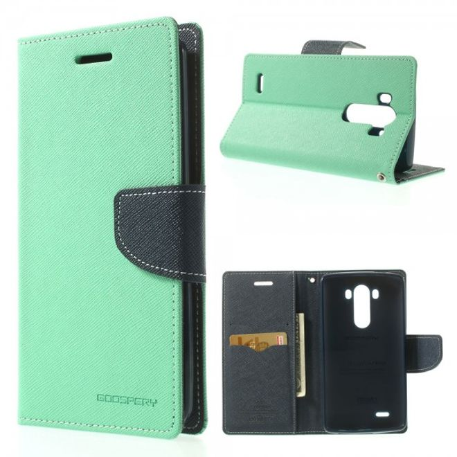 Goospery Goospery - LG G3 Hülle - Handy Bookcover - Fancy Diary Series - mint/navy