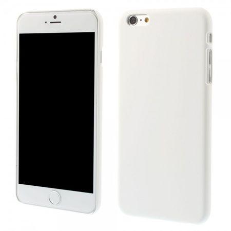 iPhone 6 Plus/6S Plus Gummiertes Hart Plastik Case - weiss