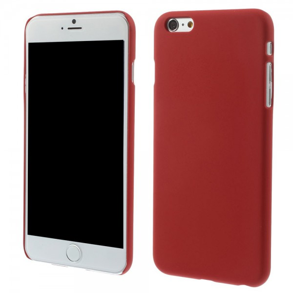 iPhone 6 Plus/6S Plus Gummiertes Hart Plastik Case - rot