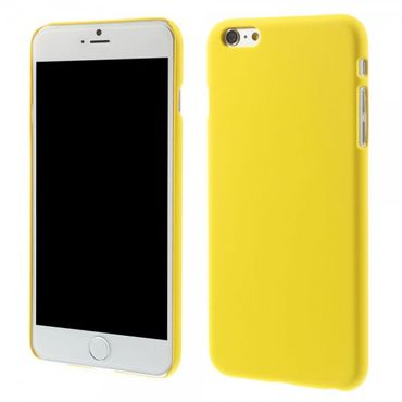 iPhone 6 Plus/6S Plus Gummiertes Hart Plastik Case - gelb
