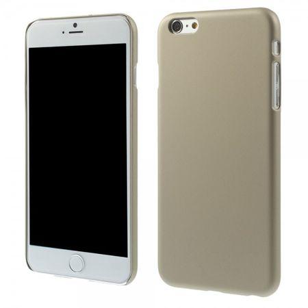 iPhone 6 Plus/6S Plus Gummiertes Hart Plastik Case - champagnerfarben