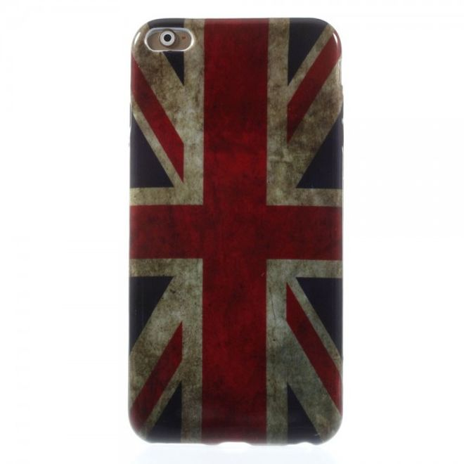 MU Style iPhone 6 Plus/6S Plus Elastisches Plastik Case mit Union Jack Flagge retro-style