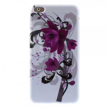 iPhone 6 Plus/6S Plus Elastisches Plastik Case mit Lotus Blumen