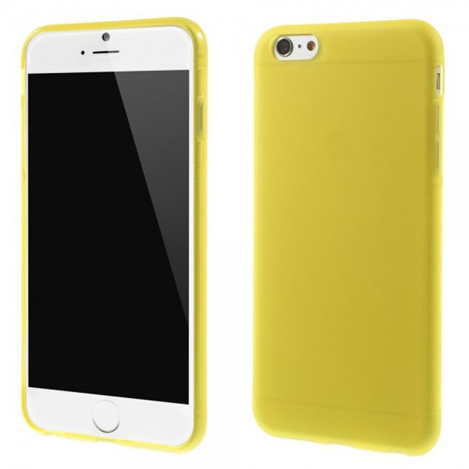 iPhone 6 Plus/6S Plus Elastisches Anti-Rutsch Plastik Case - gelb