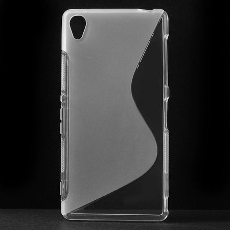 Sony Xperia Z3 Elastisches Plastik Case S-Curved - transparent