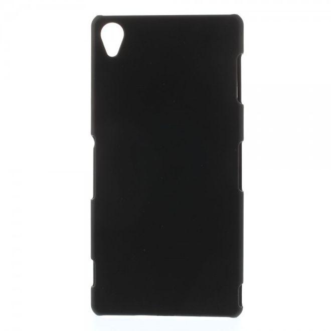 Sony Xperia Z3 Gummiertes Plastik Case - schwarz