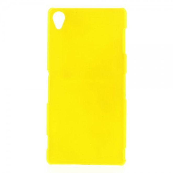 MU Classic Sony Xperia Z3 Gummiertes Plastik Case - gelb