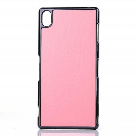 Sony Xperia Z3 Lederartiges Crazy Horse Plastik Case - pink