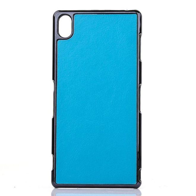 Sony Xperia Z3 Lederartiges Crazy Horse Plastik Case - blau