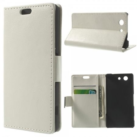 Sony Xperia Z3 Compact Modernes Crazy Horse Leder Case - weiss
