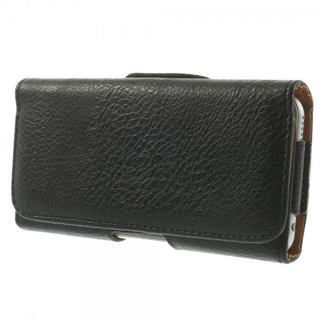 MU Classic iPhone 6/6S Leder Etui mit Gurthalterung - schwarz