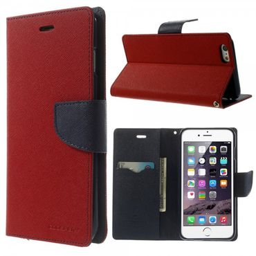 iPhone 6 Plus/6S Plus Mercury Leder Case - rot