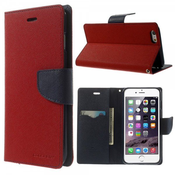 Goospery iPhone 6 Plus/6S Plus Mercury Leder Case - rot