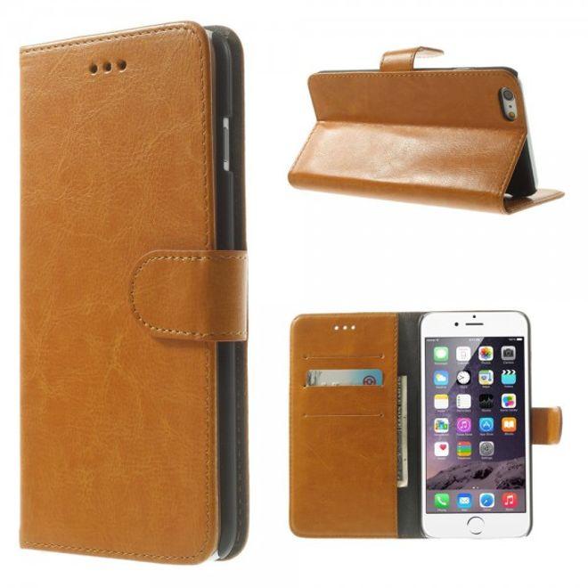 iPhone 6 Plus/6S Plus Crazy Horse Leder Case - orange