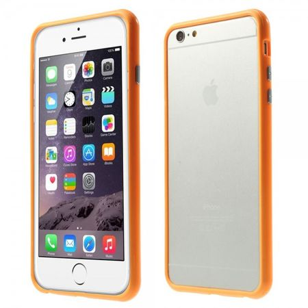 iPhone 6 Plus/6S Plus Leicht glänzender Plastik Bumper - orange