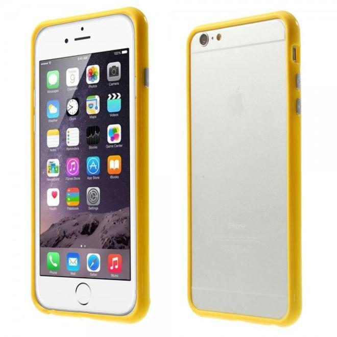 MU Classic iPhone 6 Plus/6S Plus Leicht glänzender Plastik Bumper - gelb