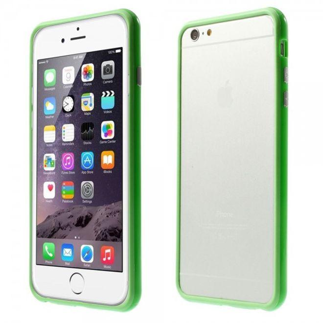 iPhone 6 Plus/6S Plus Leicht glänzender Plastik Bumper - grün