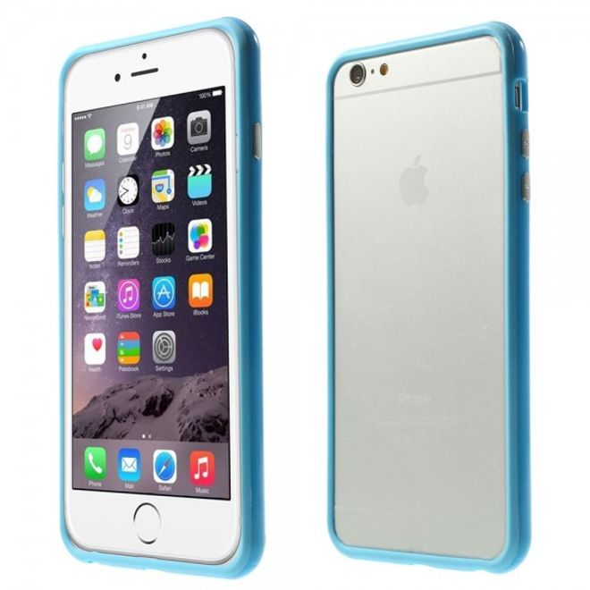 MU Classic iPhone 6 Plus/6S Plus Leicht glänzender Plastik Bumper - blau