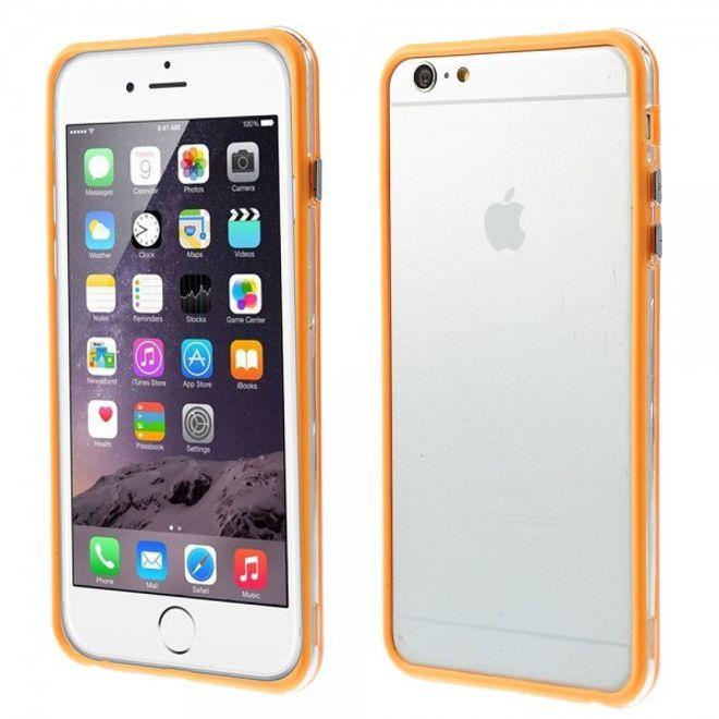 iPhone 6 Plus/6S Plus Flexibles Plastik Bumper Case - orange