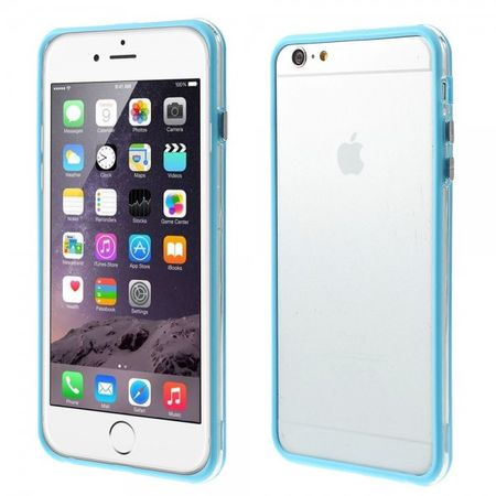 iPhone 6 Plus/6S Plus Flexibles Plastik Bumper Case - hellblau