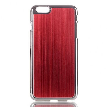 iPhone 6 Plus/6S Plus Hart Plastik Case im Aluminiumlook - rot