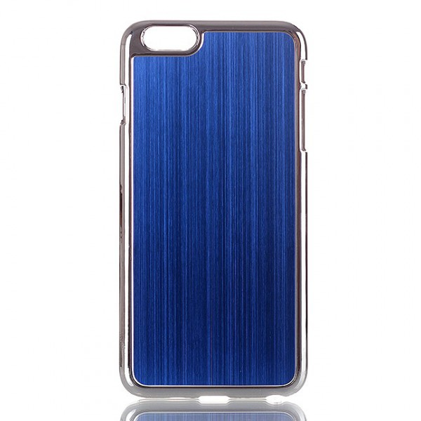 iPhone 6 Plus/6S Plus Hart Plastik Case im Aluminiumlook - blau